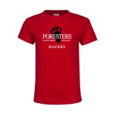 Youth Red T Shirt-Hockey