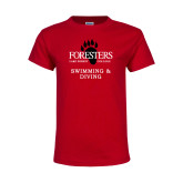 Youth Red T Shirt-Swimming and Diving
