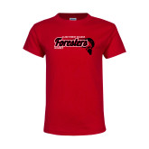 Youth Red T Shirt-Hockey Puck