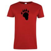 Ladies Red T Shirt-Paw