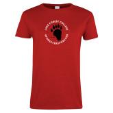 Ladies Red T Shirt-Circle