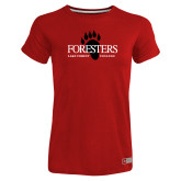 Ladies Russell Red Essential T Shirt-Foresters