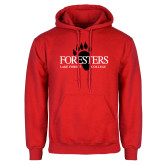 Red Fleece Hoodie-Foresters