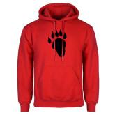 Red Fleece Hoodie-Paw
