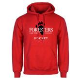 Red Fleece Hoodie-Hockey