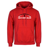 Red Fleece Hoodie-Football Arch