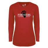Ladies Syntrel Performance Red Longsleeve Shirt-Foresters