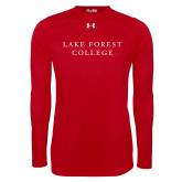 Under Armour Red Long Sleeve Tech Tee-Wordmark
