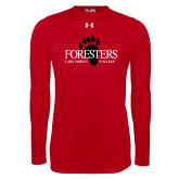Under Armour Red Long Sleeve Tech Tee-Foresters