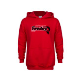 Youth Red Fleece Hoodie-Hockey Puck