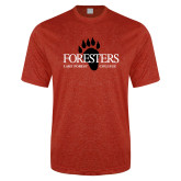 Performance Red Heather Contender Tee-Foresters
