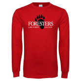 Red Long Sleeve T Shirt-Foresters