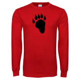 Red Long Sleeve T Shirt-Paw