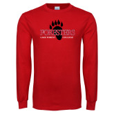 Red Long Sleeve T Shirt-Foresters w/Outline