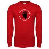 Red Long Sleeve T Shirt-Circle