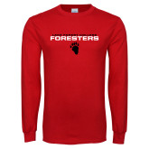 Red Long Sleeve T Shirt-Stacked