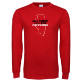 Red Long Sleeve T Shirt-#GoForesters
