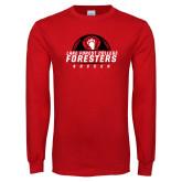 Red Long Sleeve T Shirt-Soccer Ball