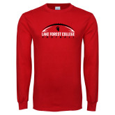 Red Long Sleeve T Shirt-Football Arch