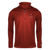 Russell Red Heather 1/4 Zip-Primary Mark