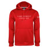 Under Armour Red Performance Sweats Team Hoodie-Wordmark