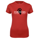 Ladies Syntrel Performance Red Tee-Foresters