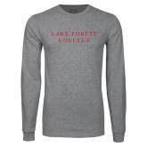 Grey Long Sleeve T Shirt-Wordmark