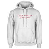 White Fleece Hoodie-Wordmark