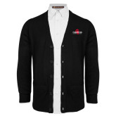 Black V Neck Cardigan w/Pockets-Foresters