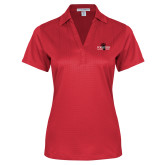 Ladies Red Performance Fine Jacquard Polo-Foresters
