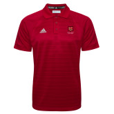 Adidas Climalite Red Jacquard Select Polo-Primary Mark