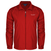 Full Zip Red Wind Jacket-Wordmark
