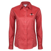 Ladies Red House Red Long Sleeve Shirt-Foresters