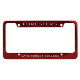 Metal Red License Plate Frame-Foresters