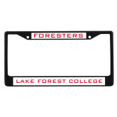 Metal License Plate Frame in Black-Foresters