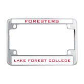 Metal Motorcycle License Plate Frame in Chrome-Foresters
