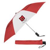 42 Inch Slim Stick Red/White Vented Umbrella-Primary Mark