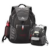 High Sierra Big Wig Black Compu Backpack-Wordmark