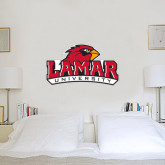 3 ft x 4 ft Fan WallSkinz-Lamar University w/Cardinal Head