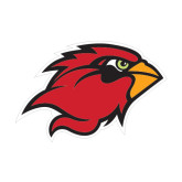 Medium Decal-Cardinal Head, 8 in W
