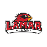 Alumni Decal-Lamar University w/Cardinal Head, 6 in W