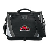 Slope Compu Black/Grey Messenger Bag-Lamar University w/Cardinal Head