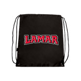 Nylon Black Drawstring Backpack-Lamar