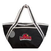 Piccolo Black Cooler Tote-Lamar University w/Cardinal Head