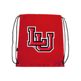 Nylon Red Drawstring Backpack-LU