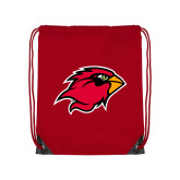 Red Drawstring Backpack-Cardinal Head