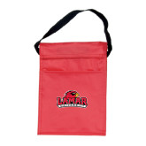 Koozie Red Lunch Sack-Lamar University w/Cardinal Head