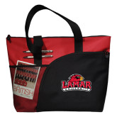 Excel Red Sport Utility Tote-Lamar University w/Cardinal Head