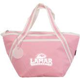 Piccolo Pink Cooler Tote-Lamar University w/Cardinal Head