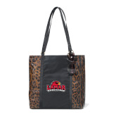 Instincts Cheetah Print Fashion Tote-Lamar University w/Cardinal Head